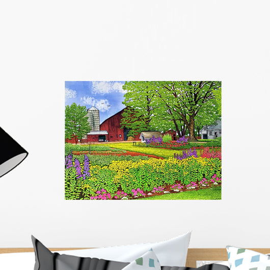 Amish Farmyard Wall Mural