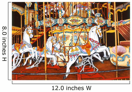 Carousel At The Fair Wall Mural
