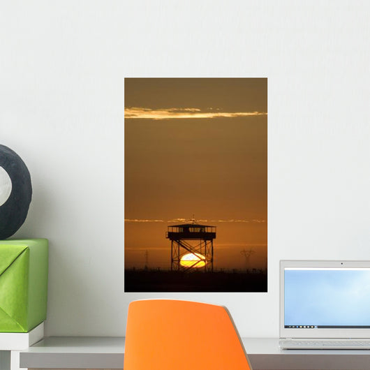 Guard Tower Sunset Wall Decal