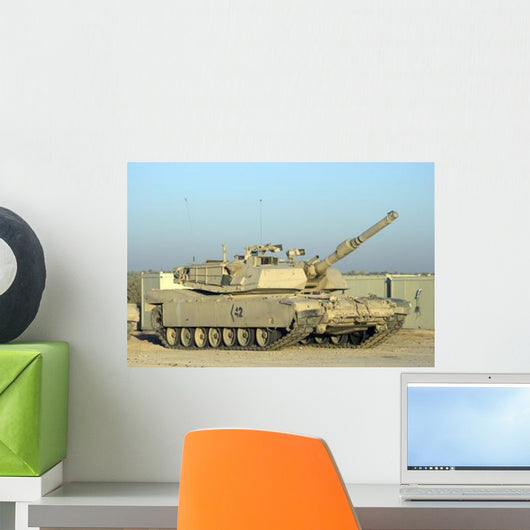 M1 Abram Tank Camp Wall Decal