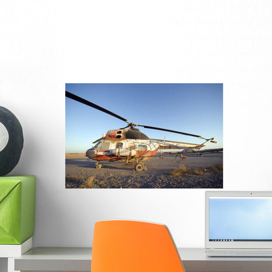 Iraqi Helicopter Sits Flight Wall Decal Design 1