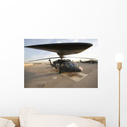 Uh-60 Blackhawk Medivac Helicopter Wall Decal Design 12