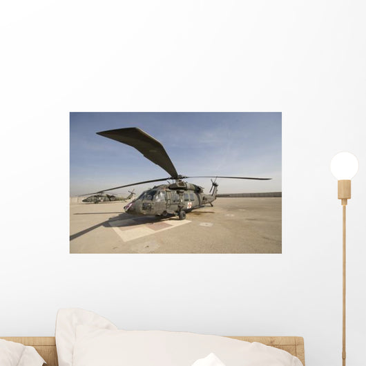 Uh-60 Blackhawk Medivac Helicopter Wall Decal Design 4
