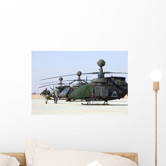 Oh-58d Kiowa Warrior Helicopters Wall Decal