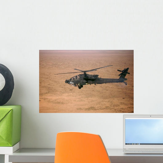 Ah-64d Apache Longbow Fires Wall Decal