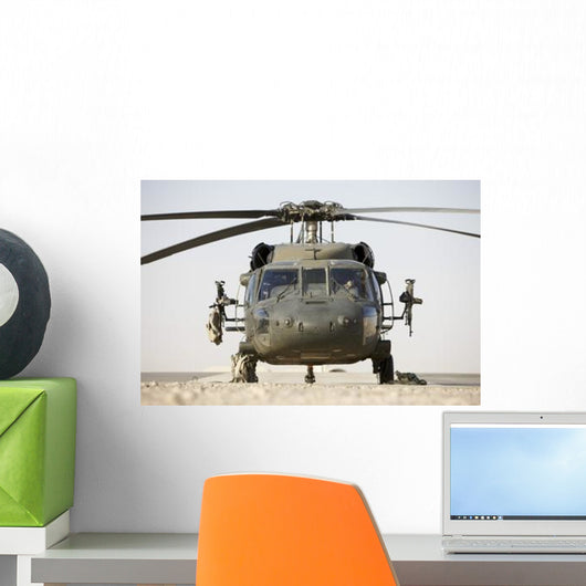 Front Uh-60l Black Hawk Wall Decal