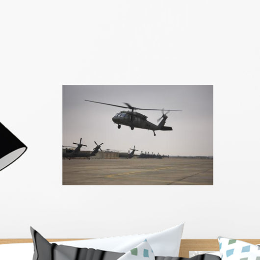 Uh-60 Black Hawk Taking Wall Decal