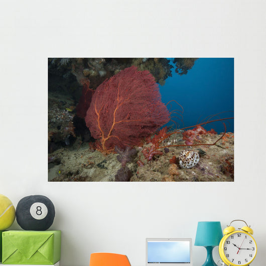 Large Red Gorgonian Sea Large Wall Decal