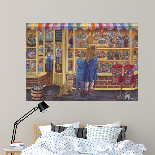 Lollipop Candy Shop Wall Mural
