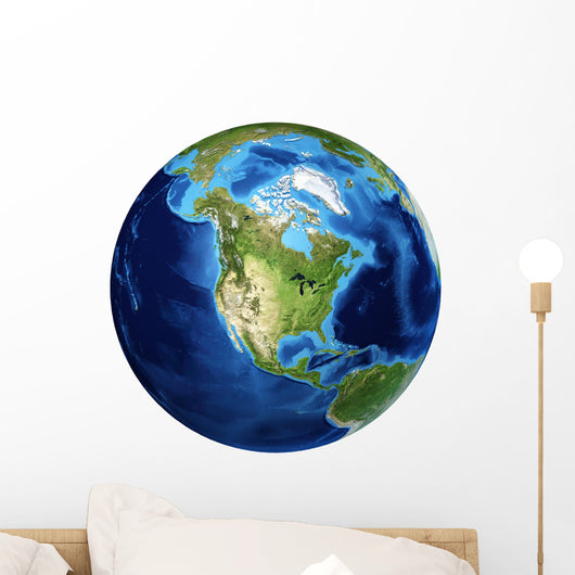 3D Rendering Planet Earth Wall Decal Design 21