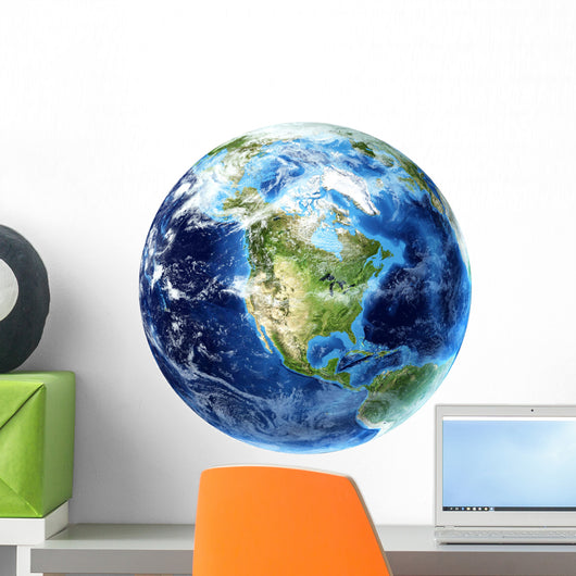 3D Rendering Planet Earth Wall Decal
