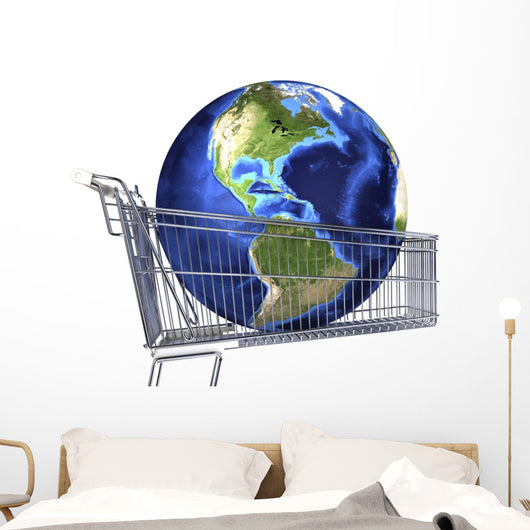 Planet Earth inside Supermarket Americas Wall Decal