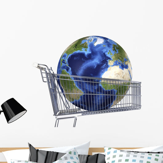 Planet Earth inside Supermarket Atlantic Ocean Wall Decal