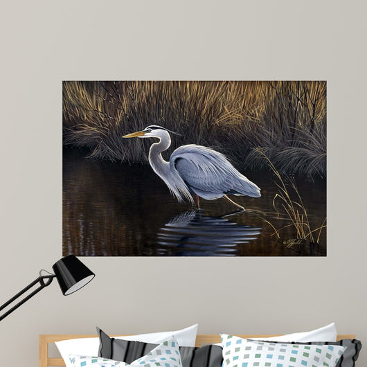 Making Strides - Great Blue Heron Wall Mural