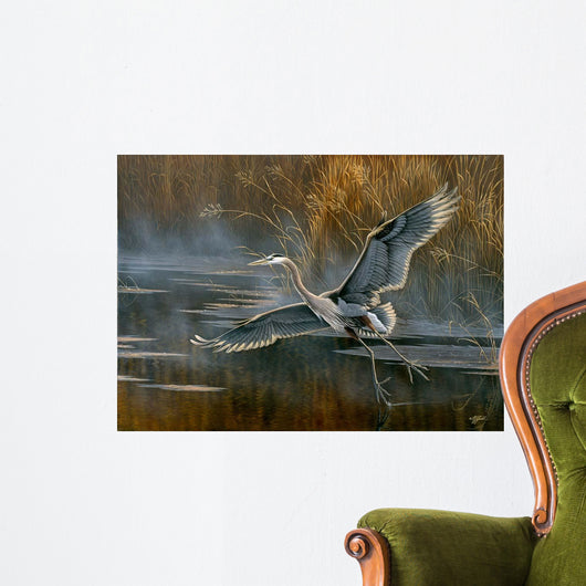 Misty Flight Wall Mural