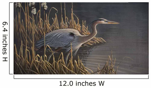 Stalking The Edge - Heron Wall Mural