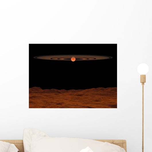 Across Hypothetical Barren Alien Wall Decal