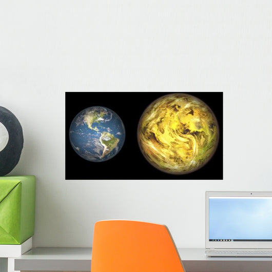 Illustration Comparing Size Extrasolar Wall Decal