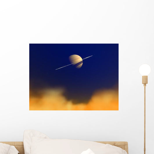 Artist's Concept Saturn amongst Wall Decal