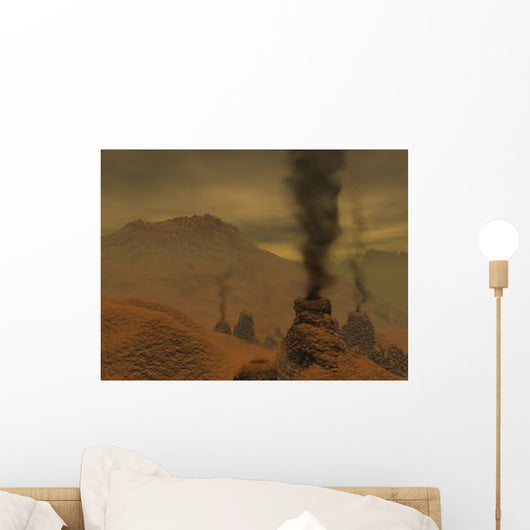 Artist's Concept Volcanic Activity Wall Decal