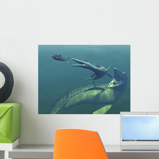 Marine Predators Cretaceous Period Wall Decal Design 2