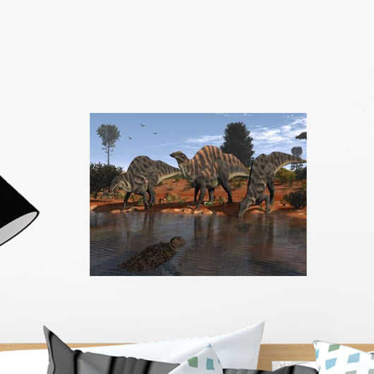 Ouranosaurus Drink Watering Hole Wall Decal