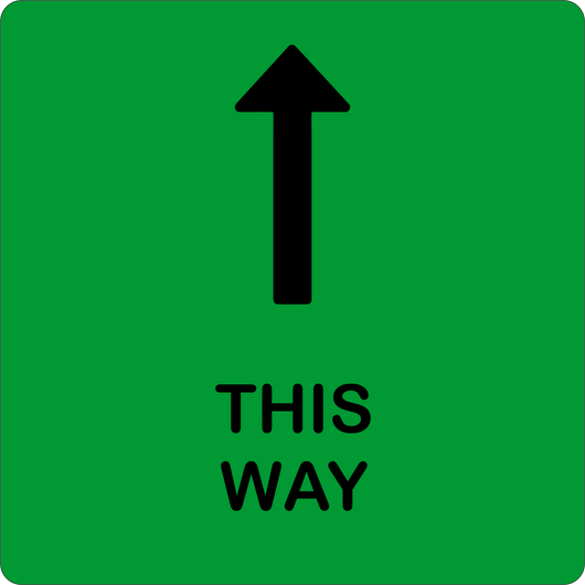 This Way Direction Floor Decal | 14