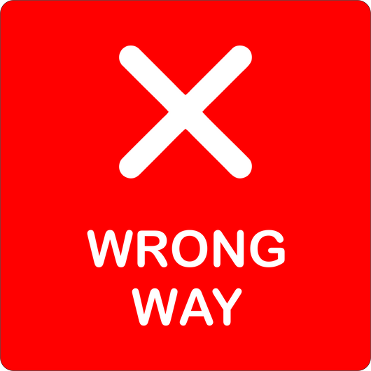 Wrong Way Floor Decal | 14