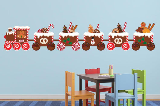 Christmas Gingerbread Train Wall Decal