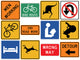Assorted Street Sign Collection Wall Decal