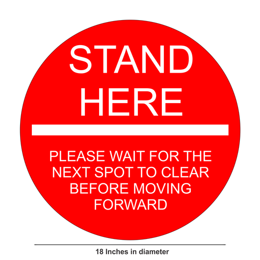 Social Distancing Floor Sticker | Stand Here Floor Sticker | 18""