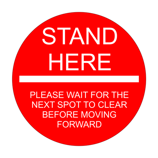 Social Distancing Floor Sticker | Stand Here Floor Sticker | 18