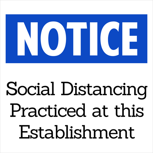 Social Distancing Practiced Here Decal