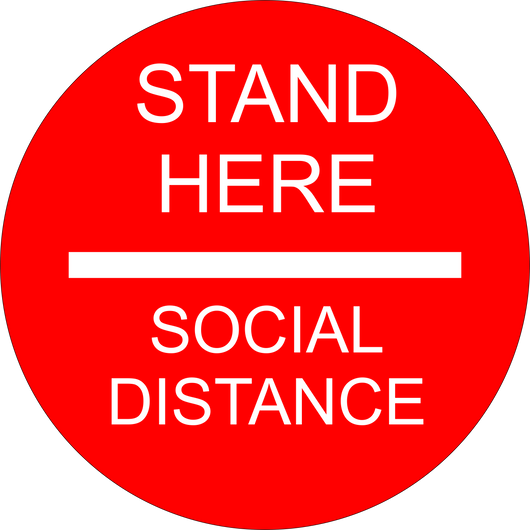 Social Distancing Floor Sticker | Stand Here to Social Distance | 14