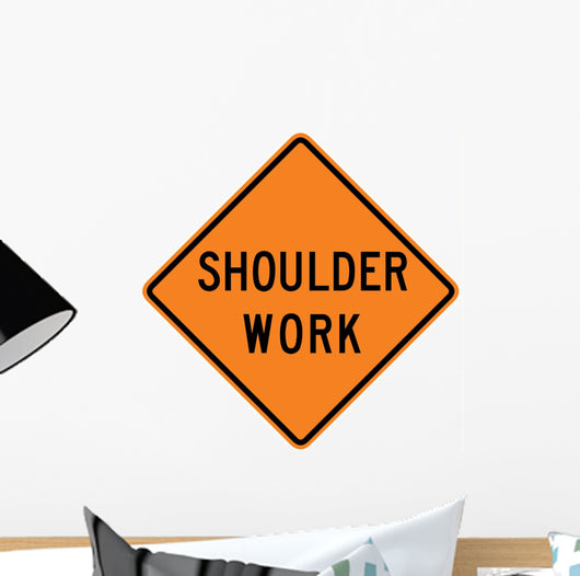 shoulder work word sign wall decal wallmonkeys com