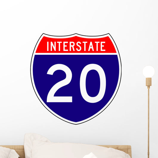 Interstate Route Sign Two Wall Decal