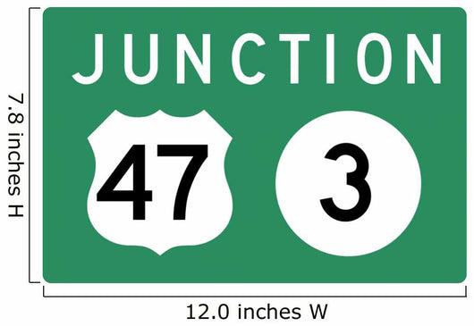 Combination Junction Sign Wall Decal