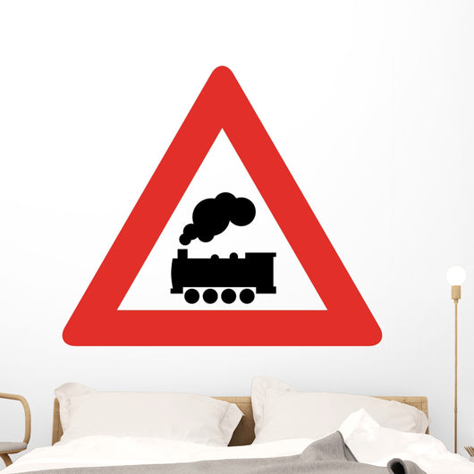 Train Ahead Symbol Sign Wall Decal