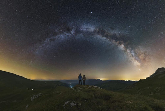 Couple Gazing Milky Way Wall Decal