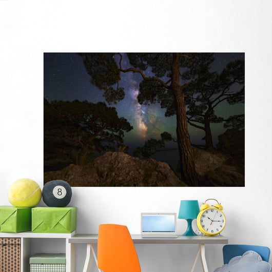 Milky Way Shining through Wall Decal