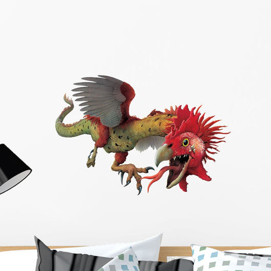 Hissing Basilisk Monster Wall Decal
