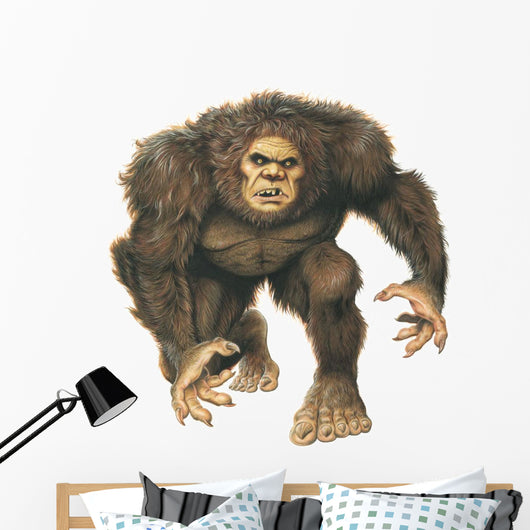 Sasquatch Big Foot Monster Wall Decal