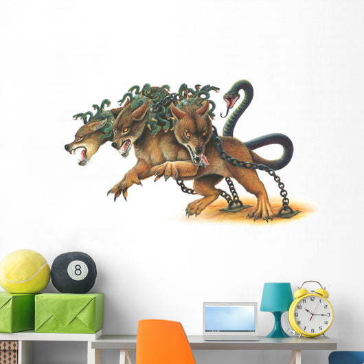 Chained Cerberus Monster Wall Decal