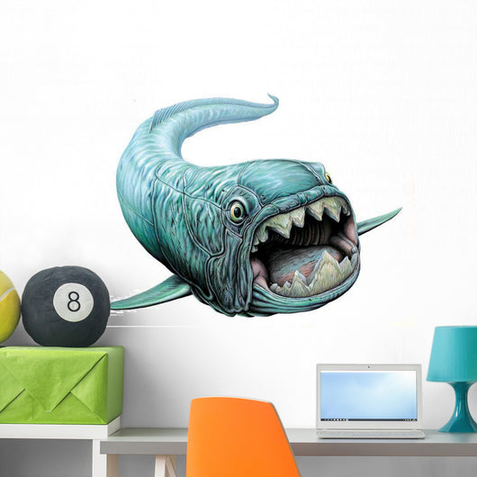 Dunklesteus Swimming Wall Decal