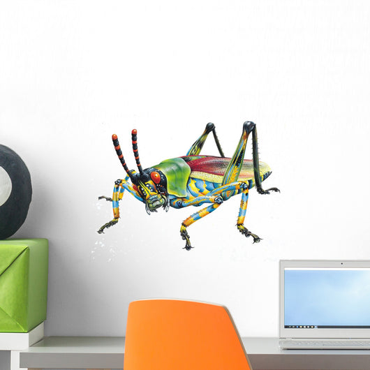 Grasshopper Hopping Wall Decal