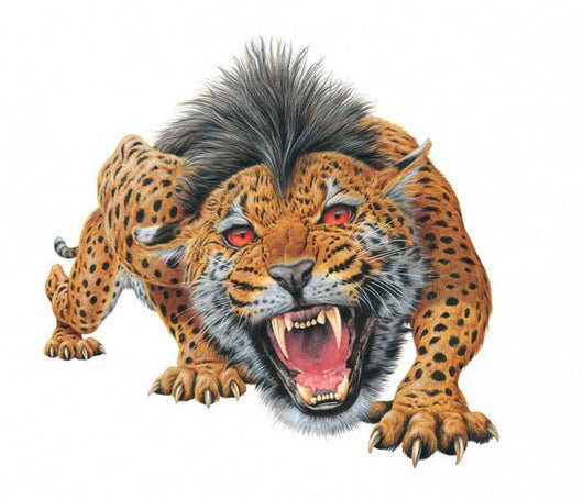 Homotherium Aggressively Roaring Wall Decal