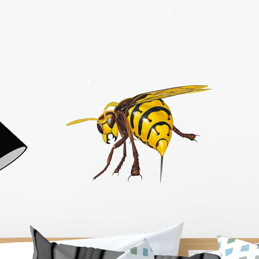 Hornet Stinging Wall Decal