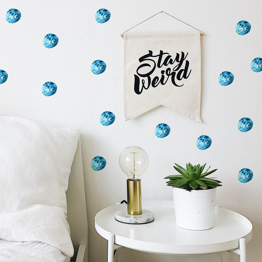 Marble Polka Dot Wallpaper Sticker Set