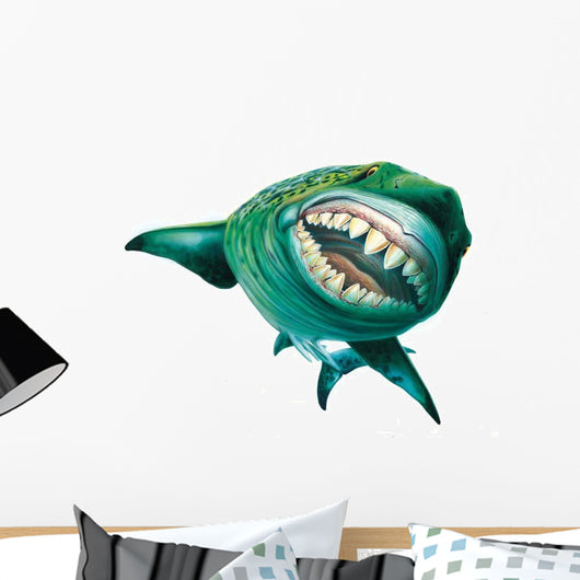 Megalodon Says Hello Wall Decal
