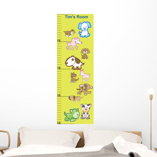 Dog Growth Chart Wall Mural Wallmonkeys